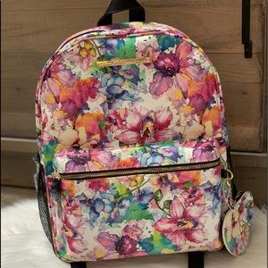 Betsey Johnson watercolor floral backpack